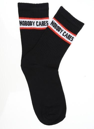 Loves You Nobody Care Çorap Siyah